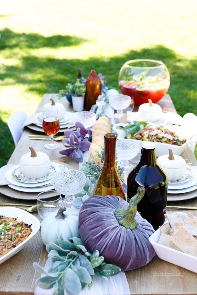 Outdoor Fall Party Idea