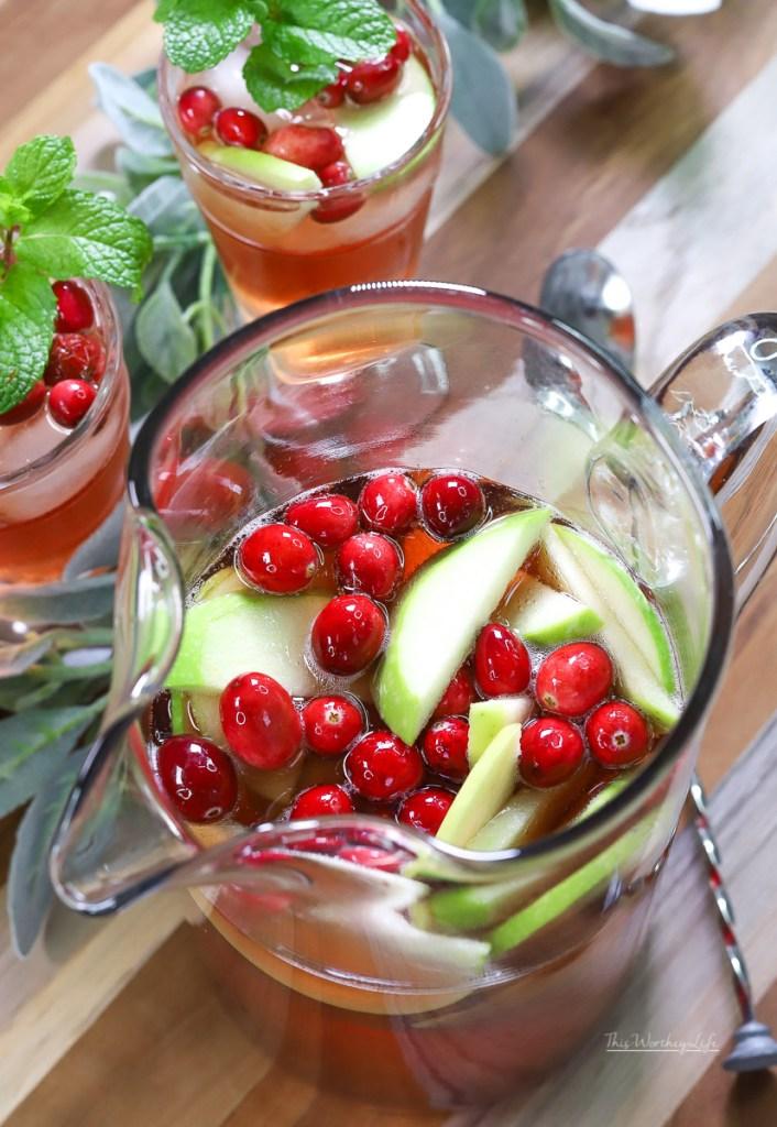 Christmas Cocktail Idea: Holiday Rosé Sparkling Sangria