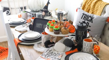 Rae Dunn inspired Halloween Party Idea