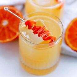 Winter Tropical Citrus Cocktail