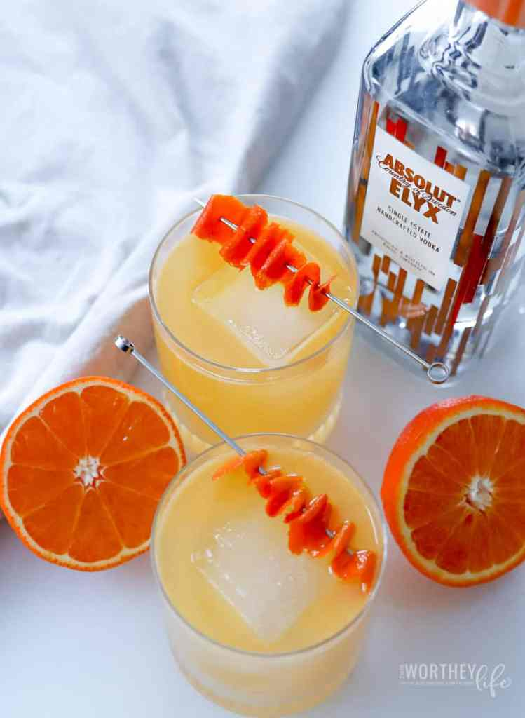 Winter Tropical Citrus Cocktail