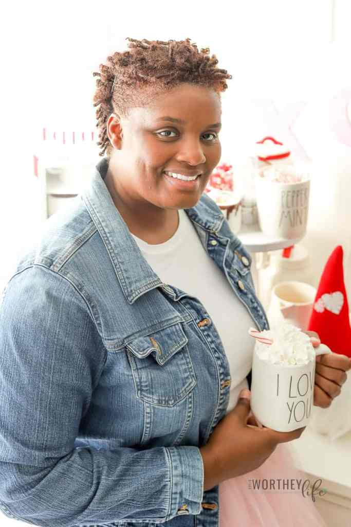 Rae Dunn valentine's day mugs