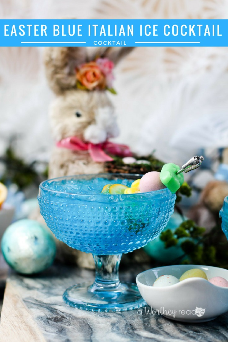 Easter Italian Ice Cocktail
