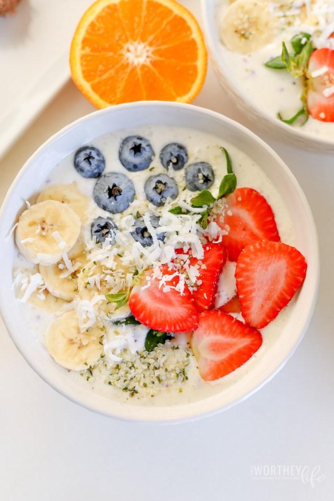 Blueberry Yogurt Bowls + Earth Genius™ Smart Green