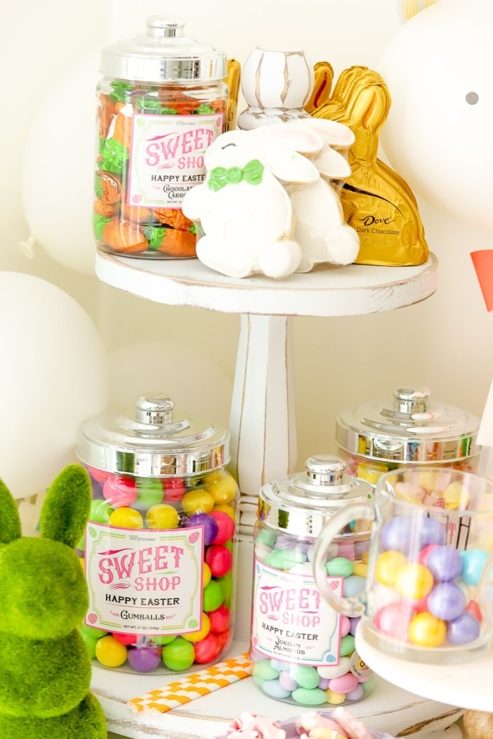 Here's what I used for my Easter Candy Bar