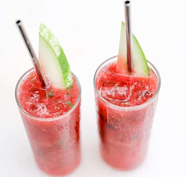Blueberry Watermelon Lemonade Slush