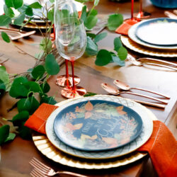 Fall Decor | Decorating Your Table With Shades Of Orange