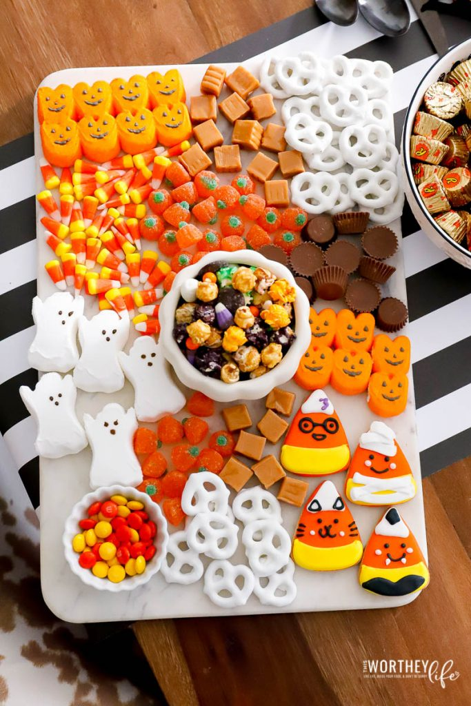 halloween charcuterie candy board