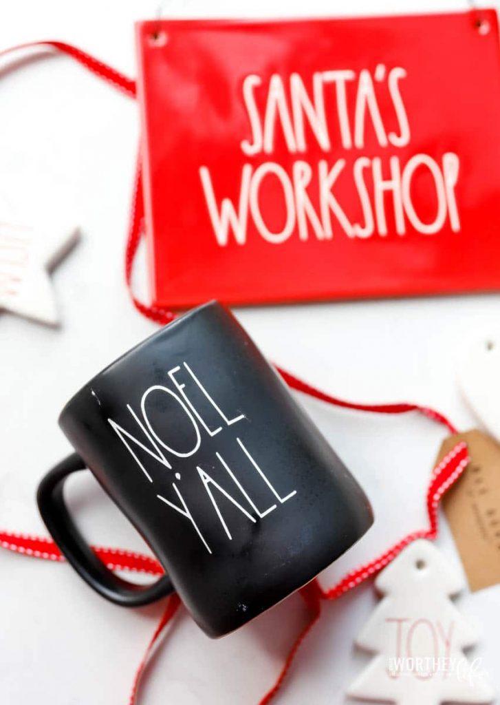 How to make an Inspired Rea Dunn Mug Noel Y'all