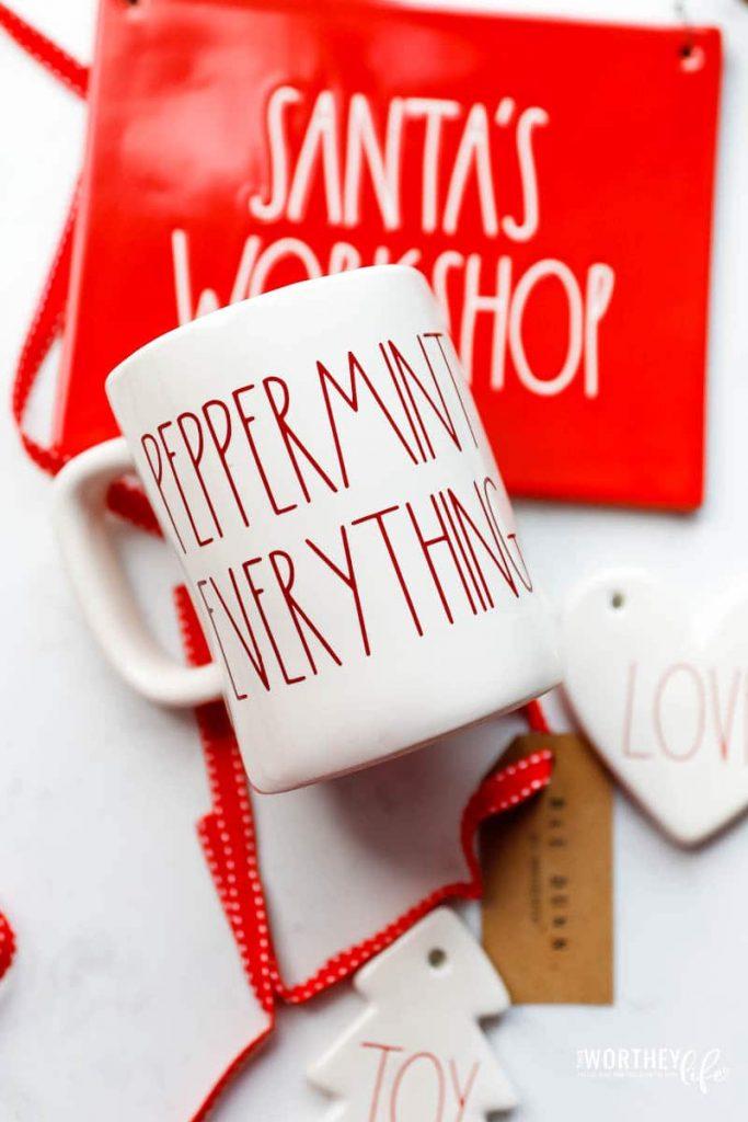 How to make a DIY Peppermint Everything Coffee Mug