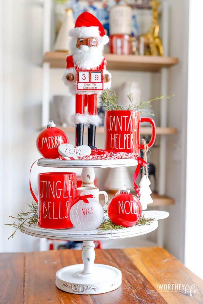 39 Rae Dunn Christmas Tiered Tray Ideas