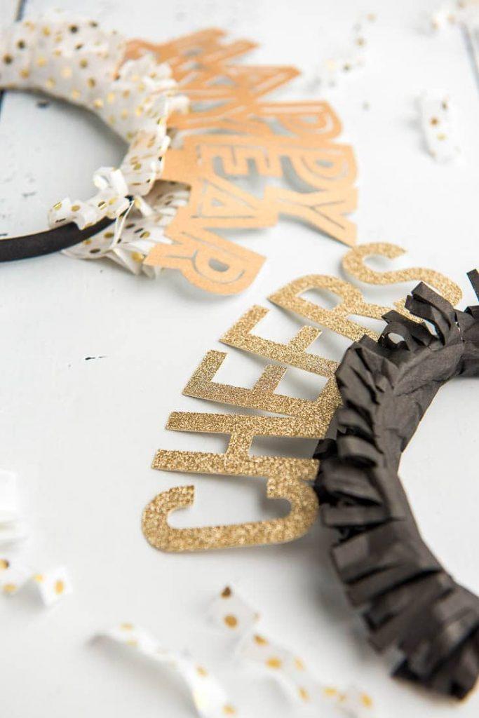 DIY Happy New Year Headband Made With A Cricut