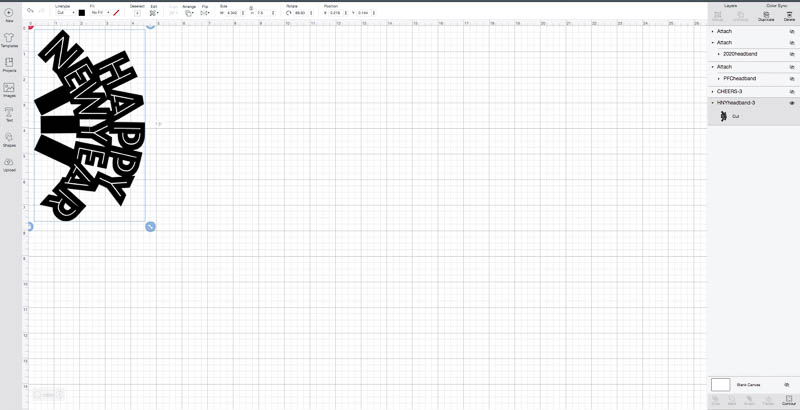 Measurements for the SVG Files + Creating Files in the Cricut Design Space: