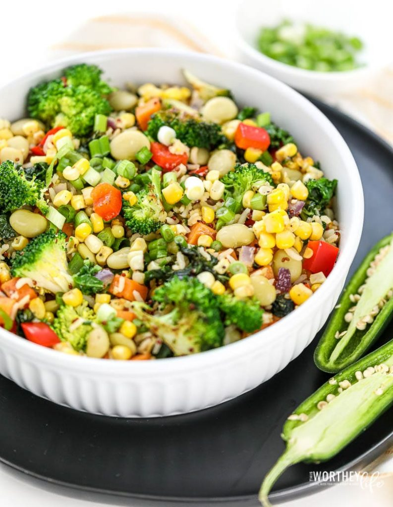 Vegetarian Succotash Stir-Fry recipe