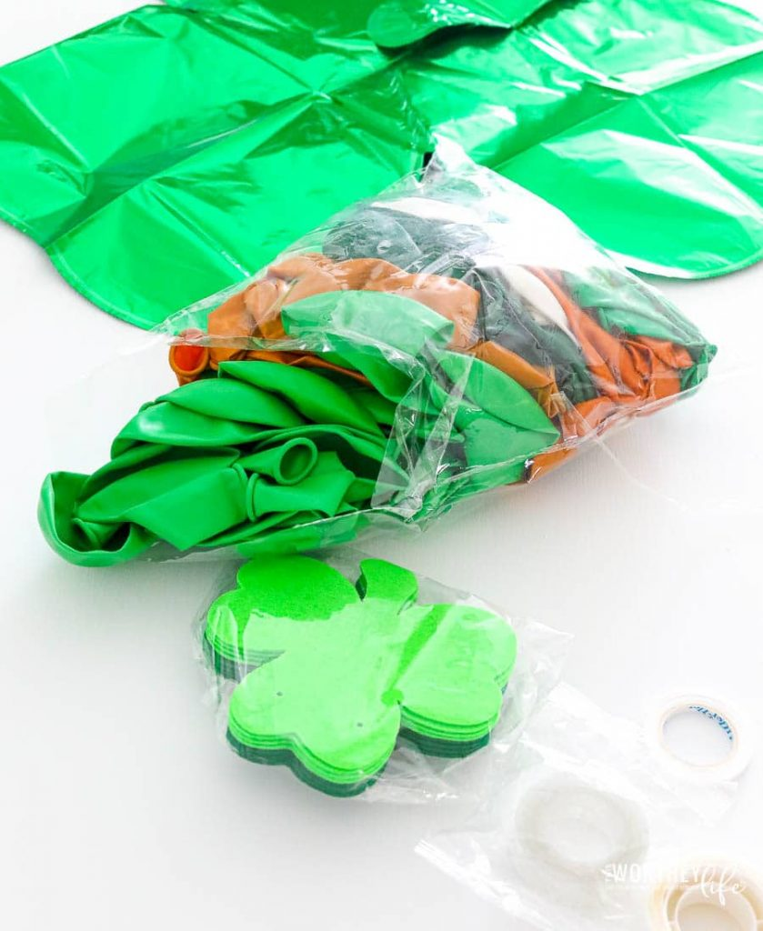 Balloon Kit for a St. Patrick's Day balloon garland