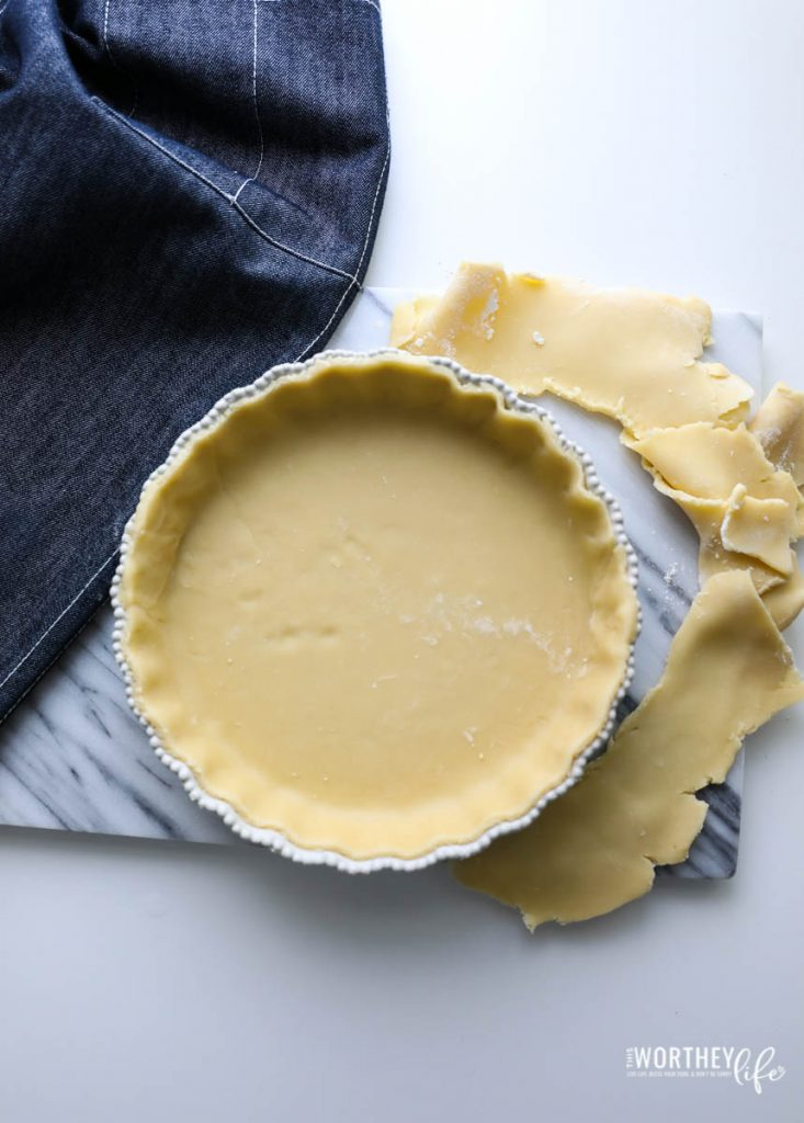 How to make quiche with the flaky crust