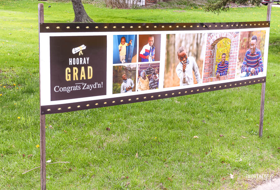 Create a graduation banner