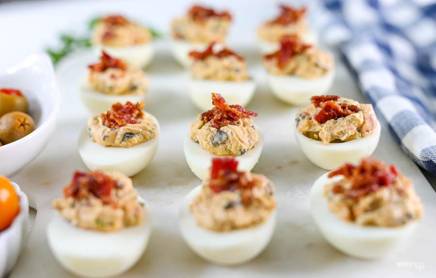 Bacon Deviled Eggs No Mayo
