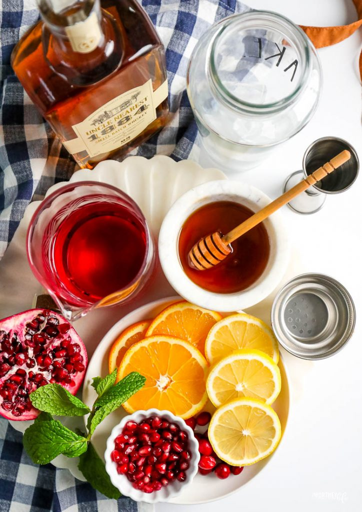 ingredients for whiskey sangria