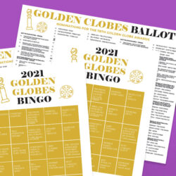 hosting a golden globe party with printables