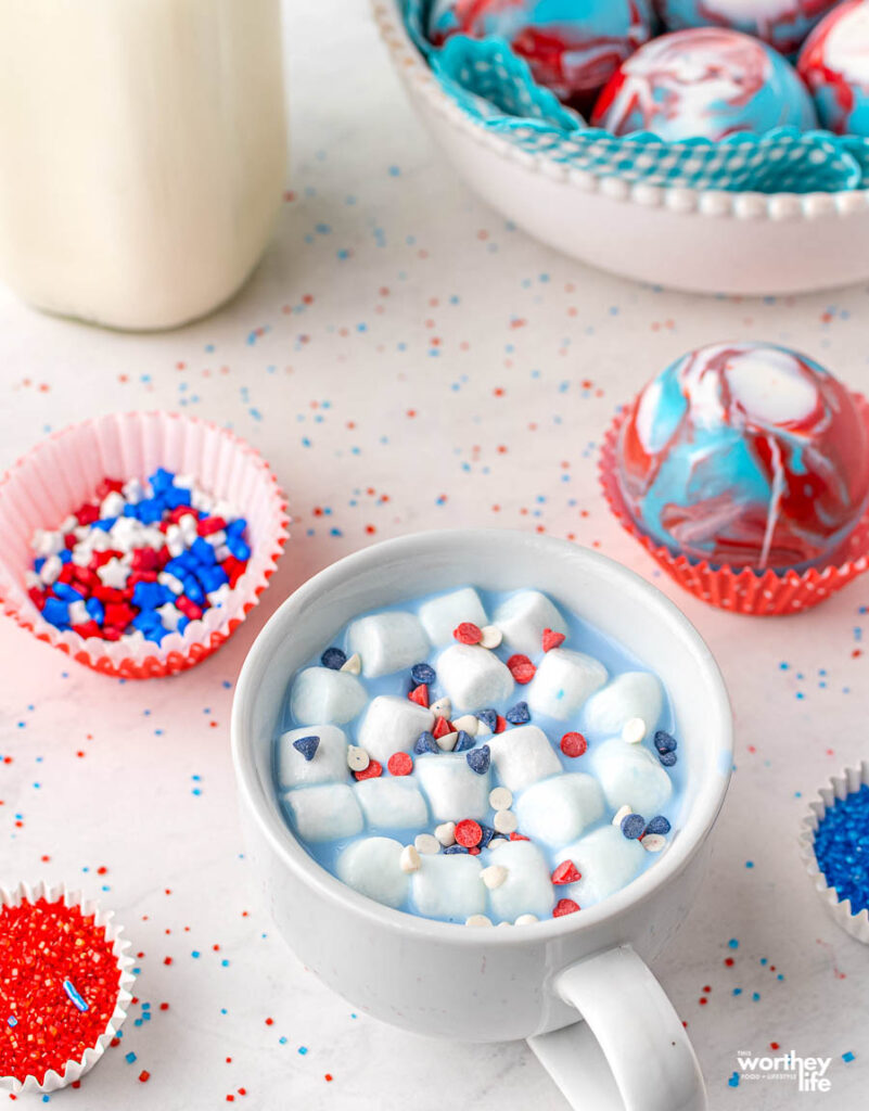 4th of July Hot Cocoa Bombs