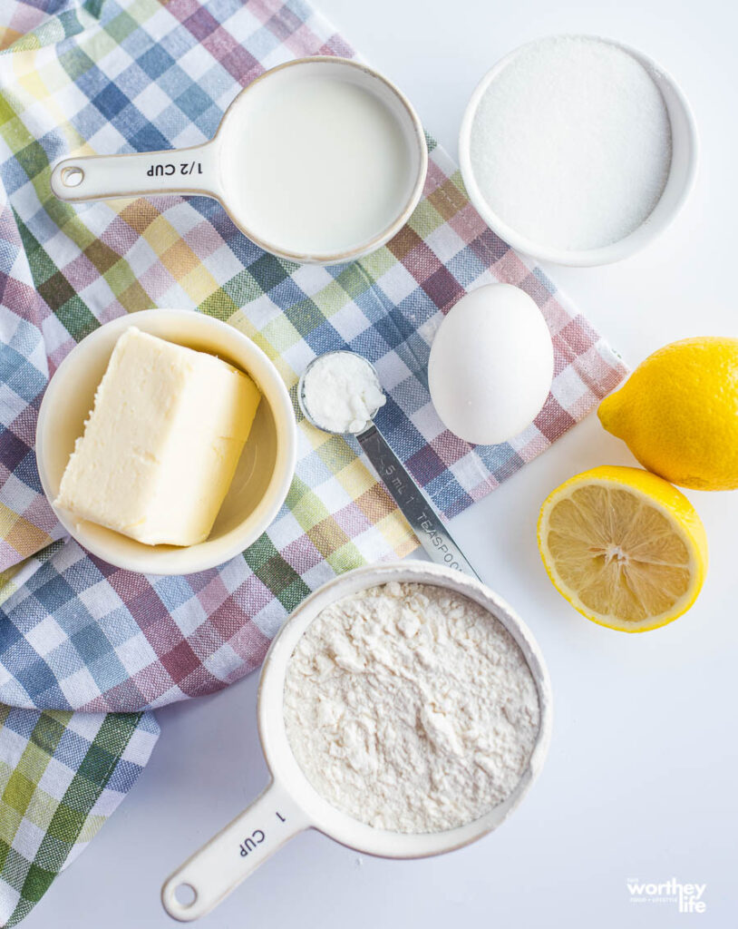 ingredients for lemon donuts