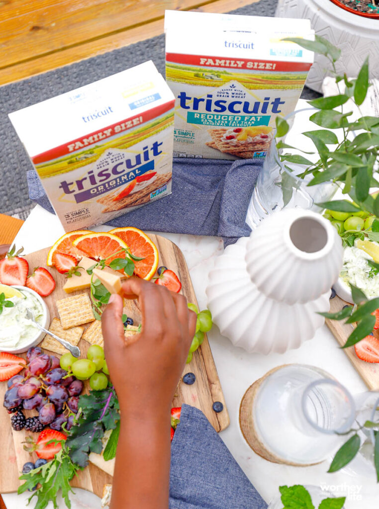 mini cheese boards with TRISCUITS