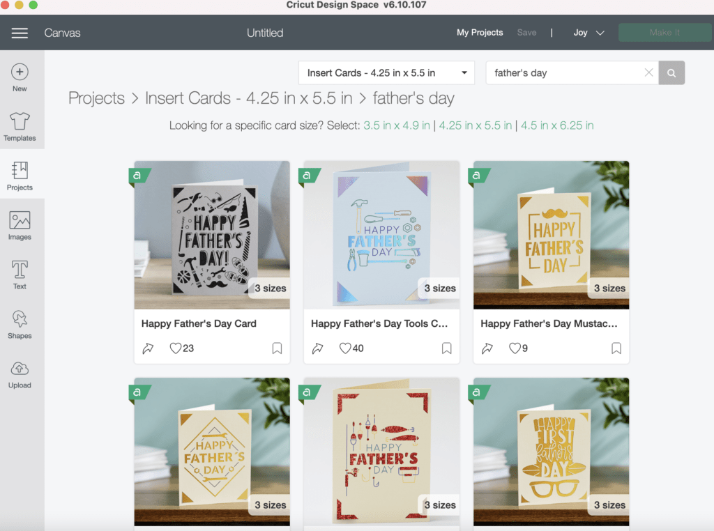 cricut father's day cards