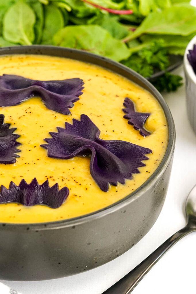 closeup photo of butternut soup