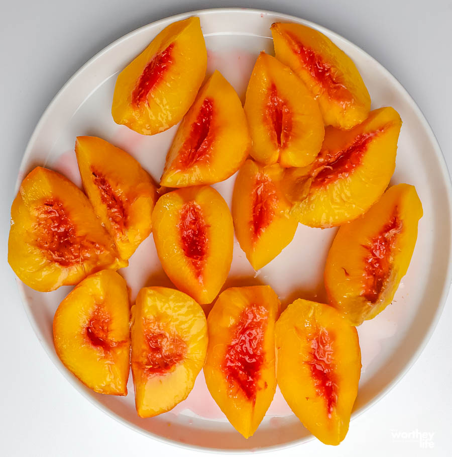 fresh cooked peaches