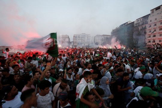 Fans watch the Africa Cup of Nations 2019 - Final - Senegal v Algeria