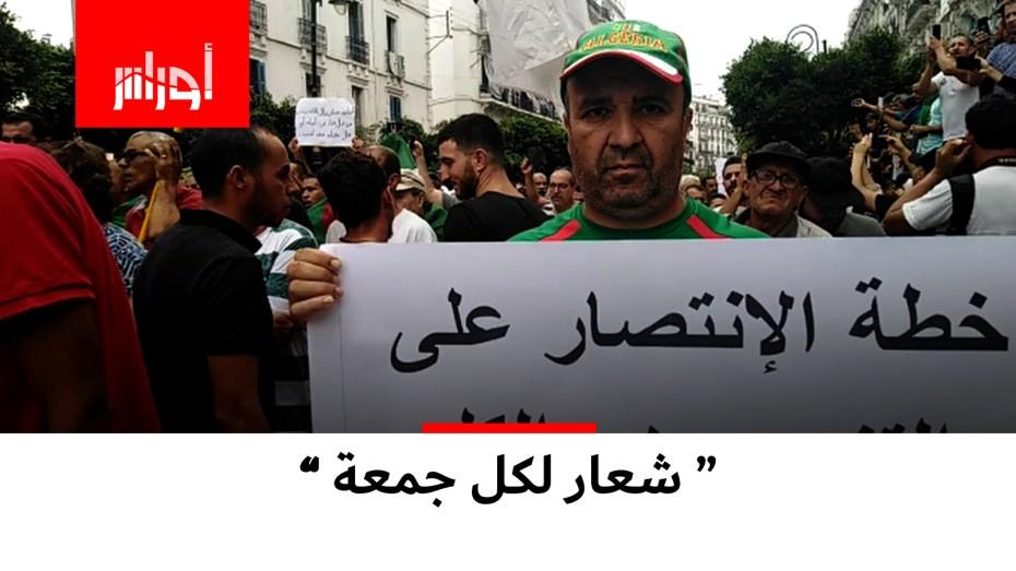 هذا المواطن الجزائري شارك في كل جمعات الحراك بشعارات مميزة.. شاهد الفيديو