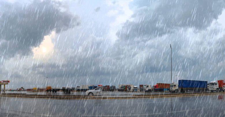 تحذير من أمطار رعدية غزيرة على خمس ولايات