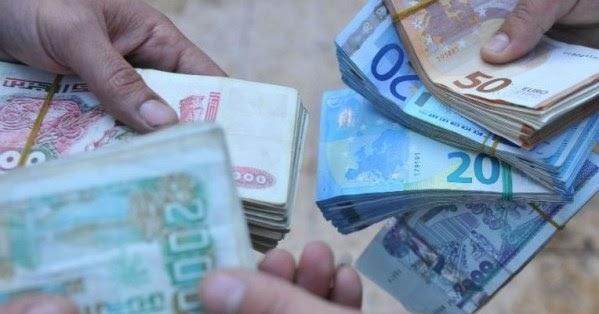 تراجع سعر صرف العملات الأجنبية مقابل الدينار الجزائري