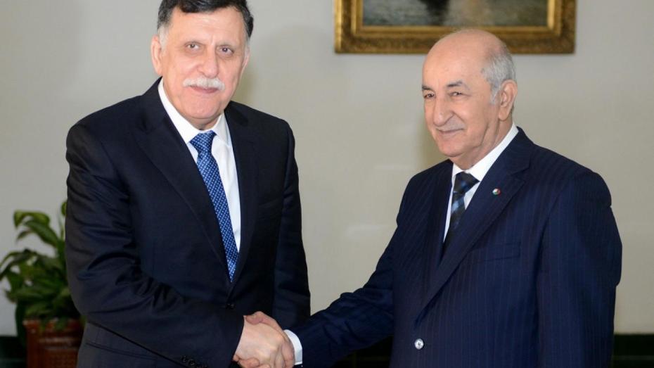 رئيس المجلس الرئاسي لحكومة الوفاق الليبية في الجزائر
