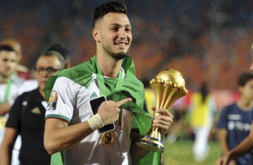 رامي بن سبعيني مدافع المنتخب الجزائري