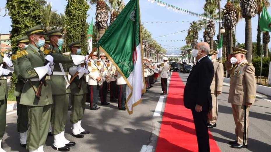 رئيس الجمهورية عبد المجيد تبون يشرف على حفل تخرج الدفعات للأكاديمية العسكرية بشرشال