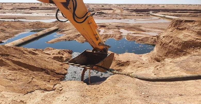 سوناطراك تتعهد بمعالجة مخلفات تسرب النفط في الوادي