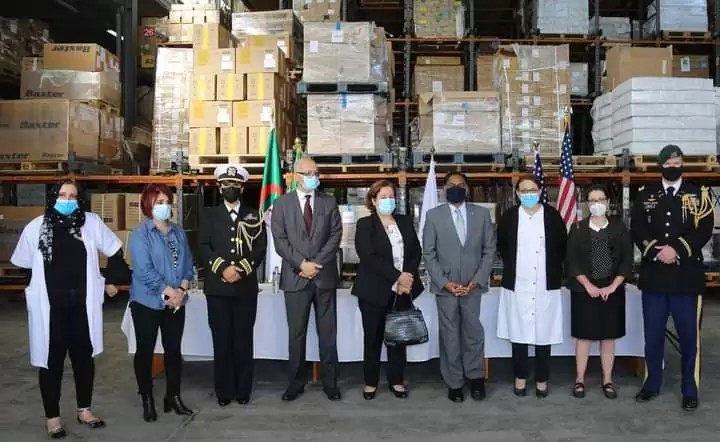 السفارة الأمريكية في الجزائر تتبرع لوزارة الصحة لمواجهة كورونا