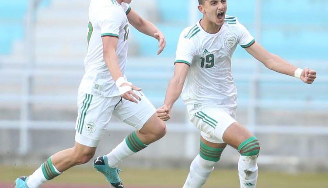 بشير بلومي مسجل الهدف الأول للمنتخب الجزائري
