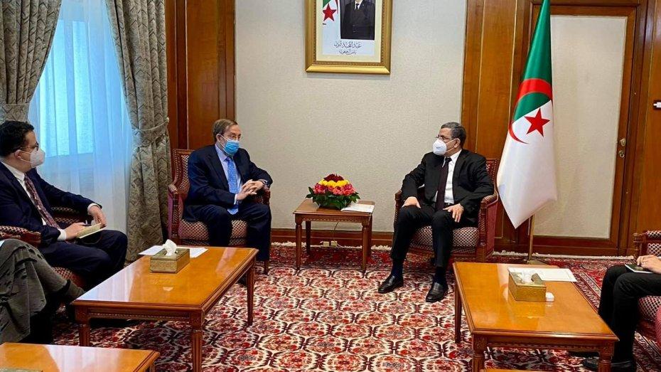 جراد يلتقي السفير الإسباني لدى الجزائر