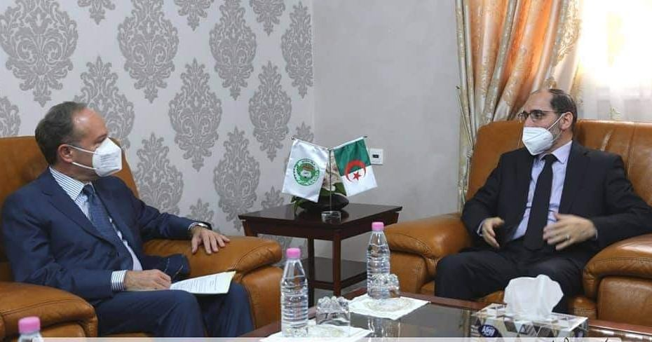 مقري يلتقي السفير الإيطالي بالجزائر