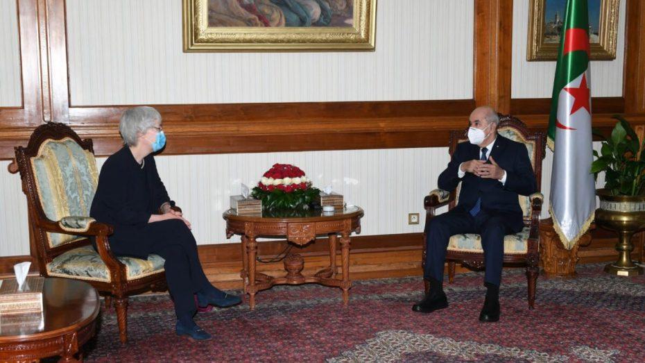 تبون يستقبل سفيرة ألمانيا بالجزائر