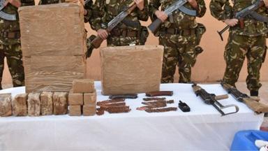 الجيش يحبط إدخال نحو 9 قناطير من المخدرات عبر الحدود المغربية