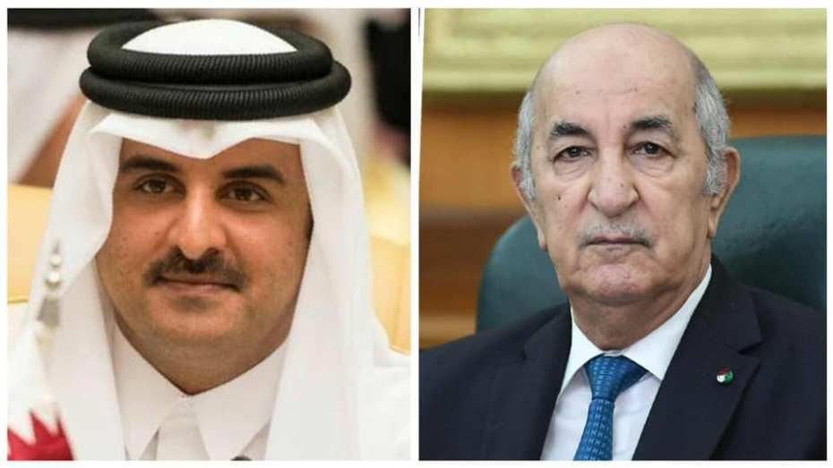 أمير قطر يهنئ تبون بعيد الفطر
