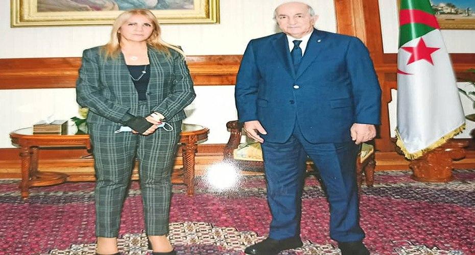 تبون يستقبل رئيسة الكونفدرالية العامة للمؤسسات سعيدة نغزة