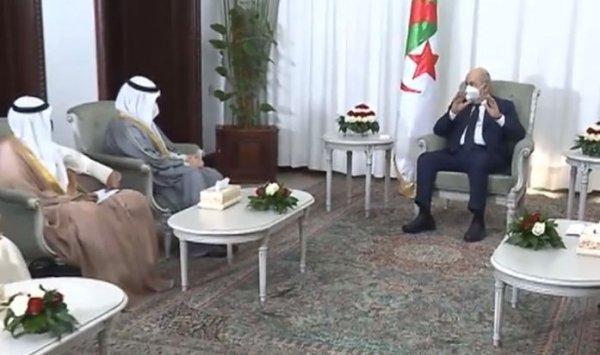 تبون يتسلم رسالة من أمير دولة الكويت