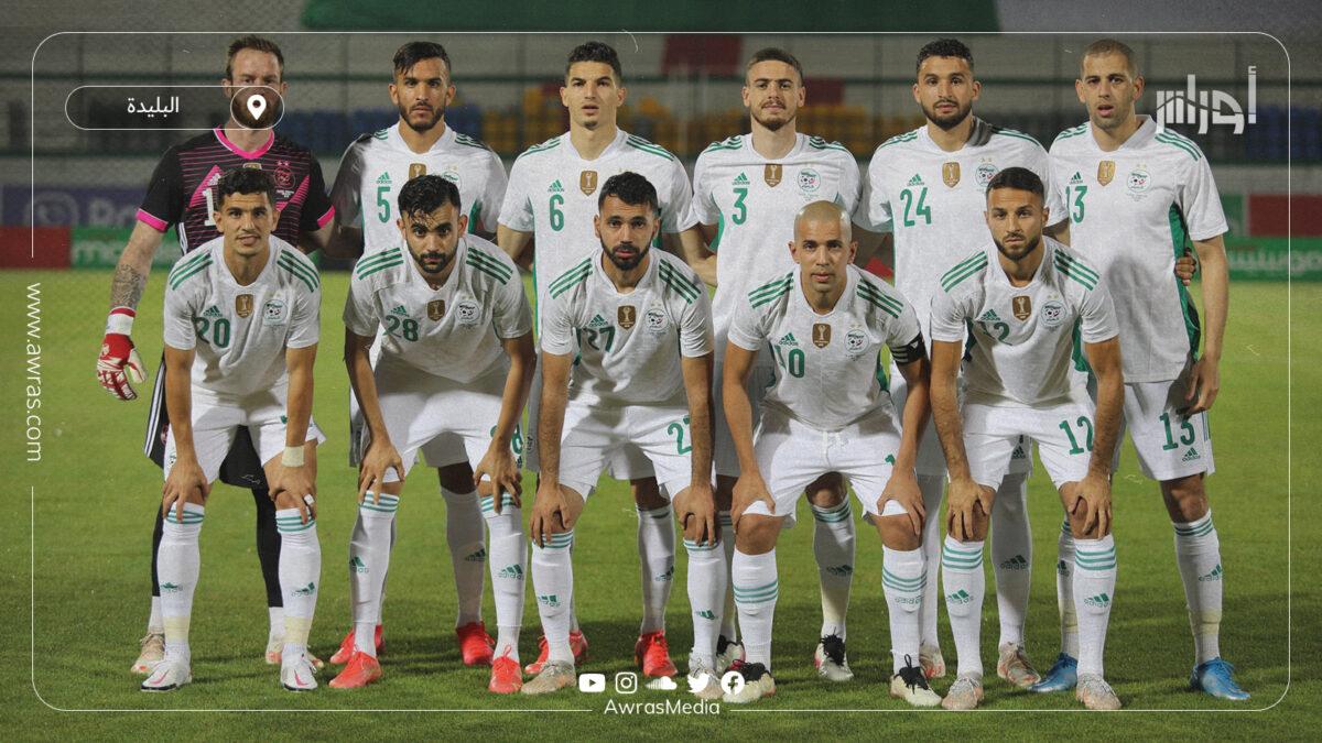 التشكيلة الأساسية للمنتخب الوطني الجزائري في ودية موريتانيا