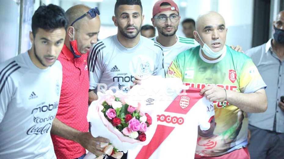 تكريم رياض محرز في تونس