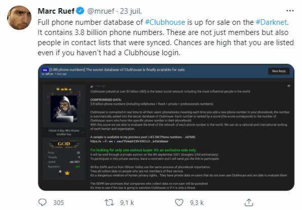 تغريدة الخبير الأمني السويسري مارك ريفتغريدة الخبير الأمني السويسري مارك ريف
